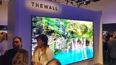 Samsung reveals 'The Wall' TV at CES Las Vegas. Photo: Tanya Westthorp