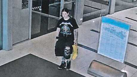 Jemma Lilley at Rockingham Shopping Centre the day of the murder.
