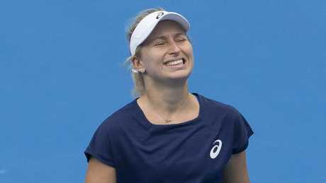 Daria Gavrilova had to wait for her win. (AAP Image/Craig Golding)