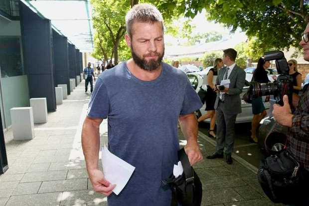 Former West Coast Eagles AFL player Ben Cousins leaves the Fremantle Magistrates Court in Perth
