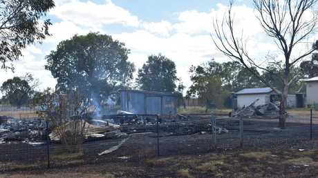 WARRA FIRE: A house in Lytton St, Warra, was burnt to the ground early this morning. No one was in the house at the time.