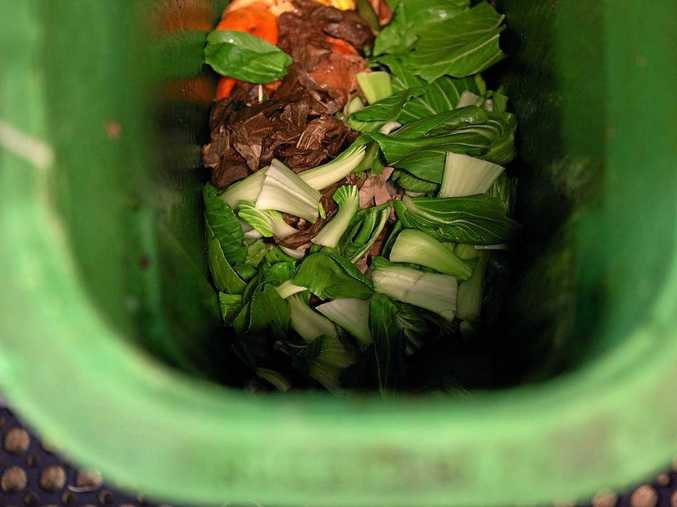 FOOD FOR THOUGHT: Food scraps in a green bin to keep food waste out of landfills.
