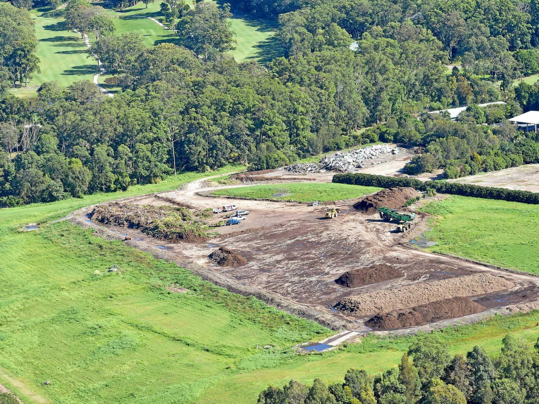 Aerials of the Sunshine Coast.Landfill, Sunshine Coast Refuse Centre, dump, rubbish tip.