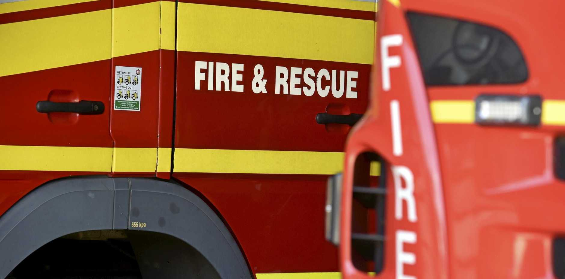 EN ROUTE: Fire crews are responding to an abandoned house at Clifton.