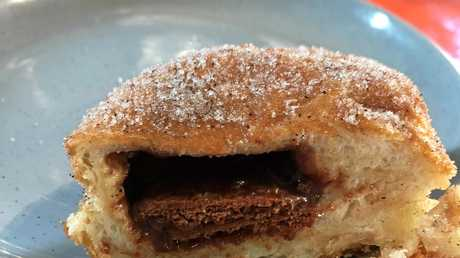 Tim Tam doughnuts will be available on the Australia Day weekend at the Kenilworth Bakery.