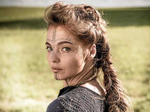 STAR: Liana Cornell in a scene from the TV series Britannia.