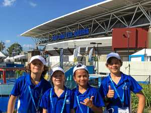 Agnes Water students have a ball at Brisbane International