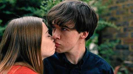 Jessica Barden and Alex Lawther play Alyssa and James in The End of the F***ing World.