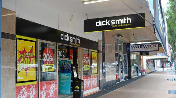 Dick Smith is business as usual in Warwick on Tuesday. Photo Samantha O'Neil / Warwick Daily News