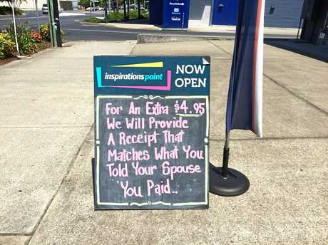 Blokey fun or sexist nonsense? What's your call on this sign posted outside a Grafton business.