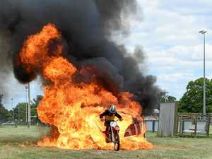 What this teen thinks before he rides through fire