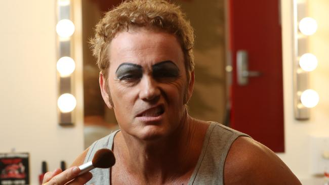 Craig McLachlan in his dressing room behind the scenes of the Rocky Horror stage show. Picture: Calum Robertson