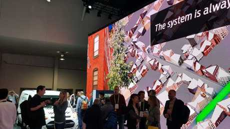 The Ford living street at CES 2018, Las Vegas. Photo: Tanya Westthorp