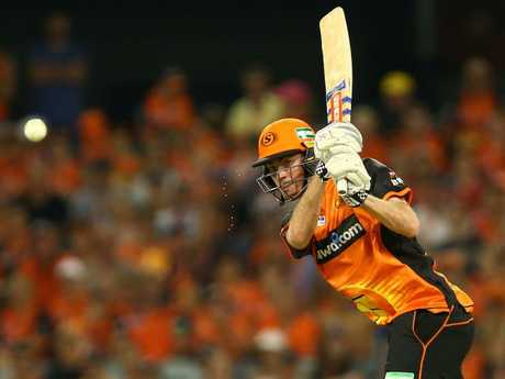 Ashton Turner delivered a devastating knock for the Scorchers. Picture: Getty Images