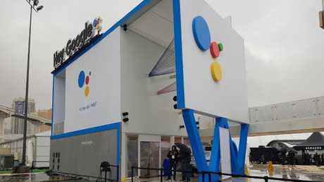 The Google Assistant playground at CES was closed after flooding. Photo: Tanya Westthorp