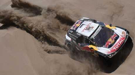 Peugeot's Sebastien Loeb during Stage 4 of the 2018 Dakar Rally.