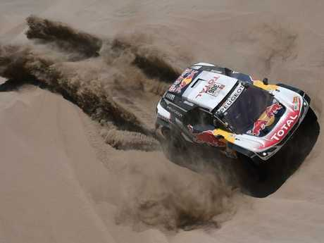 Peugeot's Sebastien Loeb during Stage 4 of the 2018 Dakar Rally.