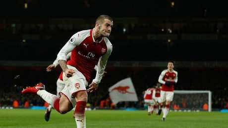 Arsenal's English midfielder Jack Wilshere
