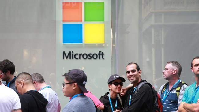 The Sydney Microsoft store in Pitt Street Mall. Picture: Dylan Robinson