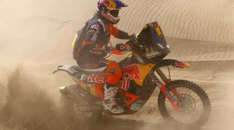 Toby Price during Stage 4 of the 2018 Dakar Rally.