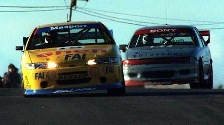 Bowe on his way to victory at Oran Park in 1995, clinching that year's ATCC title.