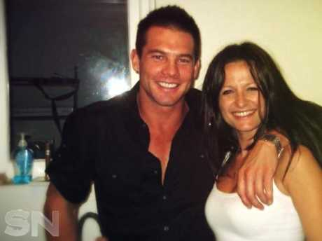 Ben Cousins and former partner, Maylea Tinecheff. Photo: Sunday Night.