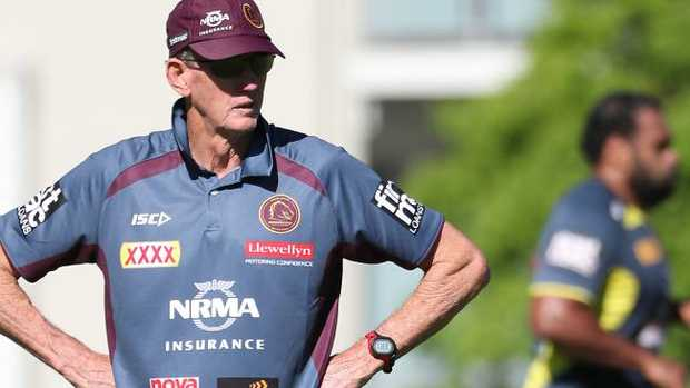 Broncos coach Wayne Bennett is putting a big gamble to the test. Pic Peter Wallis