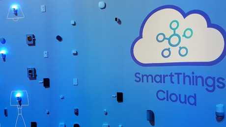 The SmartThings wall at CES 2018, Las Vegas. Photo: Tanya Westthorp