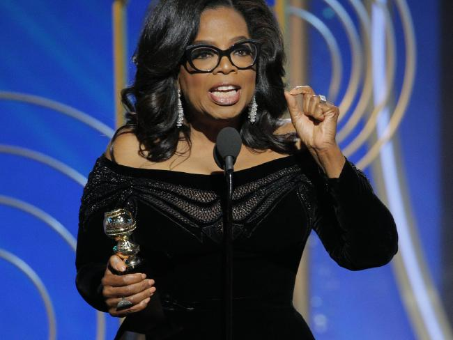Oprah Winfrey's Golden Globes speech has many calling for her to be the next President — but there's a sticking point. Picture: Paul Drinkwater/NBC via AP