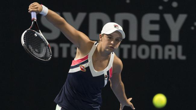 Ashleigh Barty is through to the Sydney International quarters.