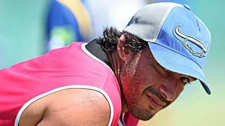 Johnathan Thurston at Cowboys training. Picture: Zak Simmonds