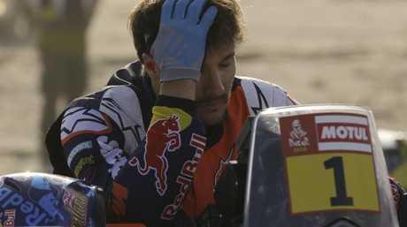 Sam Sunderland's Dakar Rally title defence is over.