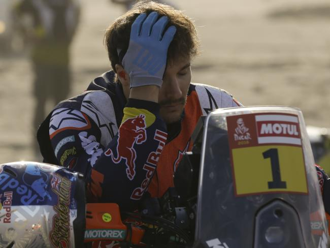 Sam Sunderland's Dakar Rally title defence is over.