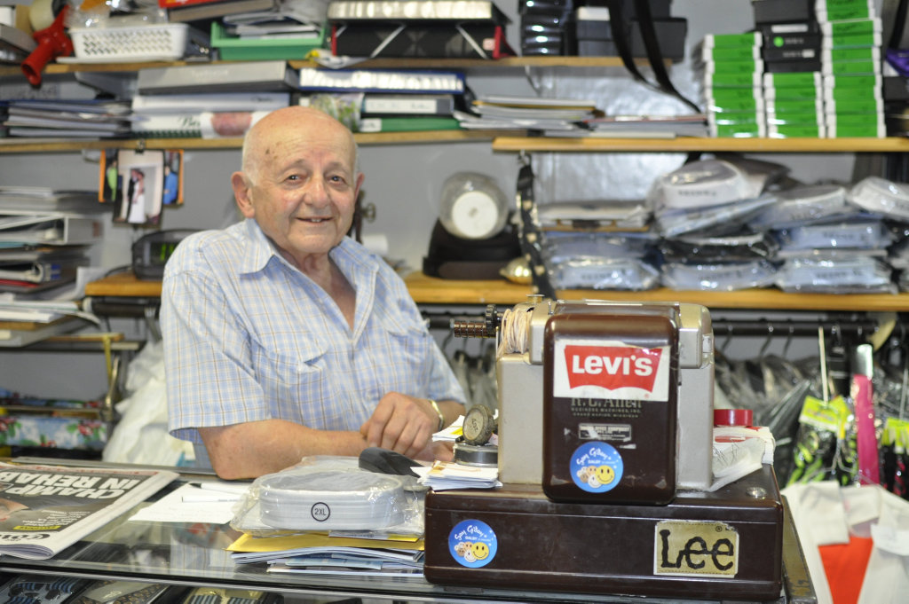 Dalby tailor Kev Khazen has owned his traditional menswear store for over four decades. Photo Lauren Gallagher / Dalby Herald