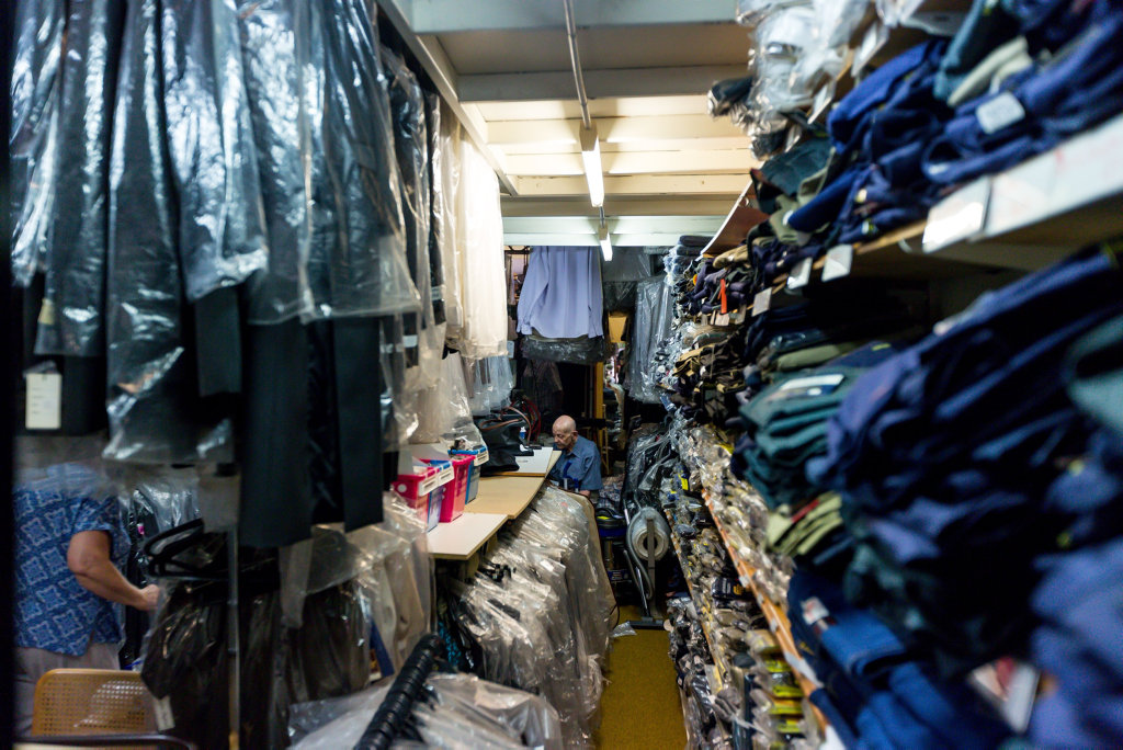 END OF ERA: Dalby tailor Kev Khazen is closing his shop after five decades in business, with thousands of suits for sale.