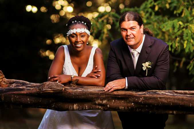 Adelaide truck driver Mark Bennett and his wife Wambui from the first episode of SBS's Marry Me, Marry My Family