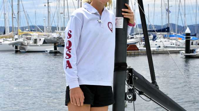 TOP SKIPPER: Seisia Mair, 13, is the youngest skipper in the SB20 sailing world championship.