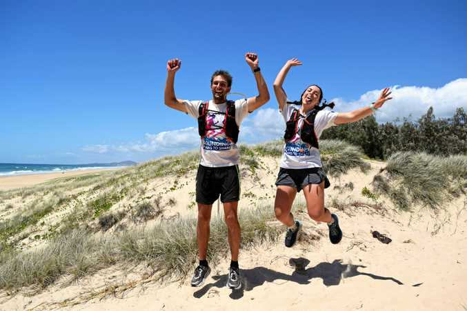 Jackson Bursill and Cassie Cohen are almost halfway through their 4000km run along the east coast of Australia for Bounding Plains to Share, a campaign raising awareness and money for refugees.