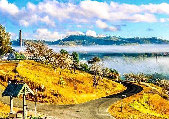 Local Jodi McFarlane captured this great shot of fog over Mount Morgan.
