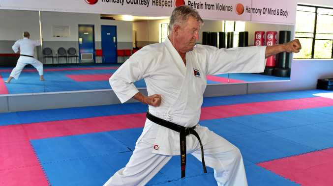 LIFE LESSON: 75-year-old Garry Maher, a r third dan black belt is living proof of the healthy benefits of karate.