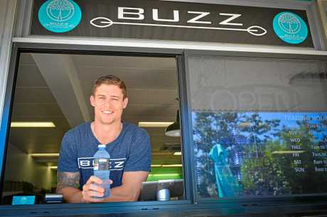 The owner of Buzz super foods Chris Beasley. Photo Mike Richards / The Observer