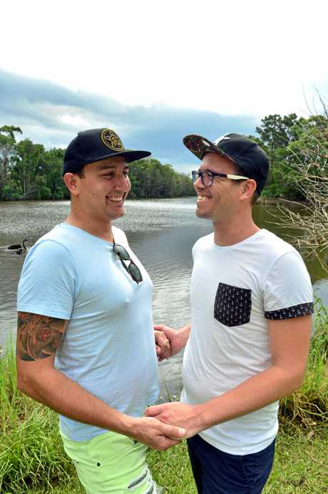 Sandy Wert and Chris Symanski are simply delighted that they can now marry each other.