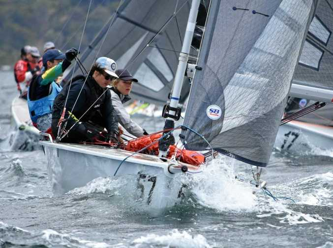 Seisia Mair's youth team competing in the 2018 SB20 World Championship in Hobart.