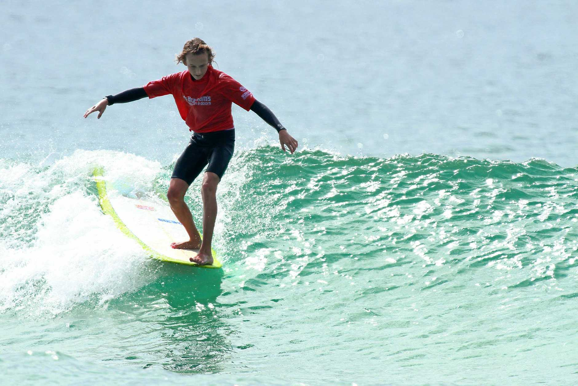 ONE TO WATCH: Alexandra Headland surfer Aiden Feeley will be out to defend his title this year.