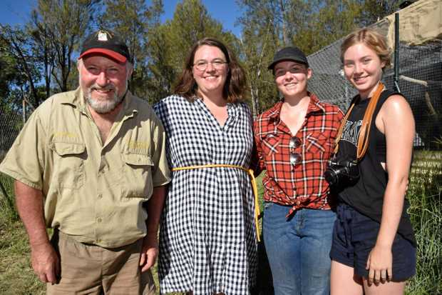 STUDY TEAM: Simon Stretton, Dr Kylie Cairns and James Cook University vet students Jacqui Pacholec and Simone Rowe .