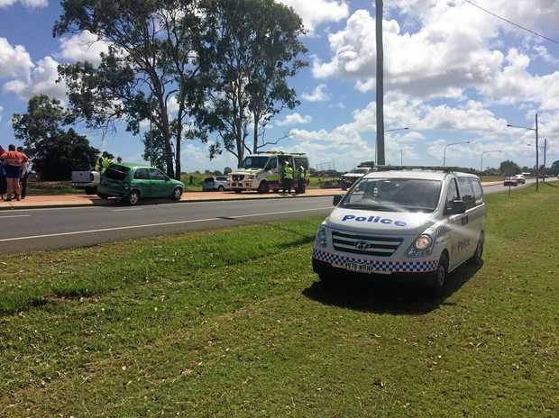 COLLISSION: Emergency services at the scene of a crash on Moore Park Rd.