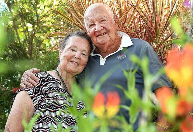 THANKFUL: Noel and Janet Dickinson were gifted a free meal but a total stranger on their 58th wedding anniversary this week.
