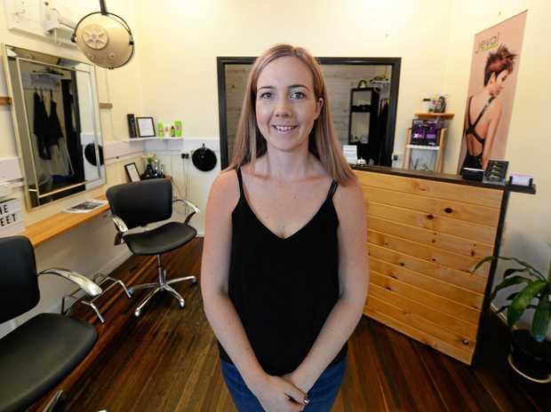 MANE STREET: Kodie Dodd at her Mane St Hair Salon in Mount Morgan.