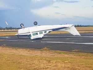 Disaster zone: 113km/h storm wreaks havoc on CQ airport