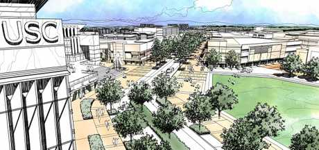 NEW UNI: An artist's impression of what the new USC Petrie campus may look like.